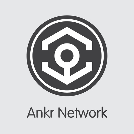 ANKR - Ankr Network. The Icon of Money or Market Emblem. Ilustração
