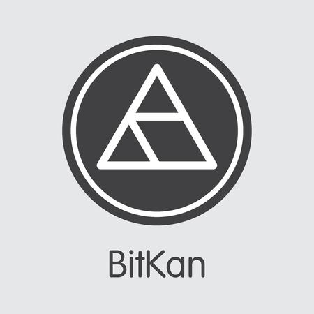 KAN - Bitkan. The Logo of Coin or Market Emblem.