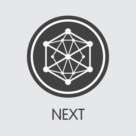 NET - Next. The Icon of Coin or Market Emblem. Ilustração