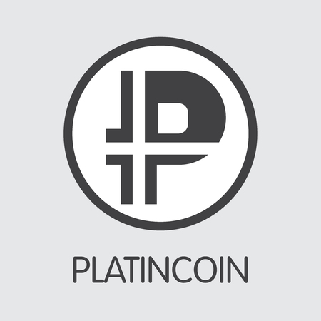 PLC - Platincoin. The Icon of Crypto Coins or Market Emblem.