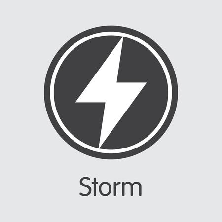 STORM - Storm. The Logo of Virtual Momey or Market Emblem. Ilustração
