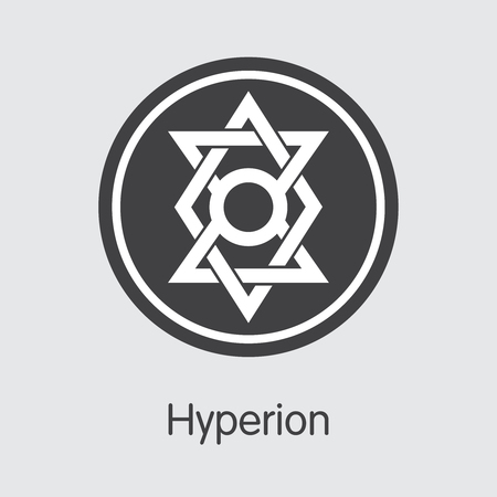HYN - Hyperion. The Icon of Crypto Coins or Market Emblem. Ilustração