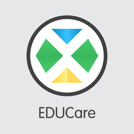 EKT - Educare. The Icon of Coin or Market Emblem. Ilustração