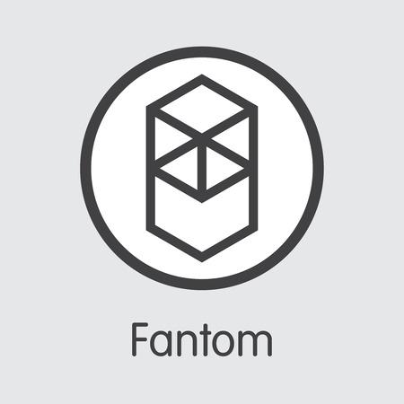 FTM - Fantom. The Market Logo of Money or Market Emblem.