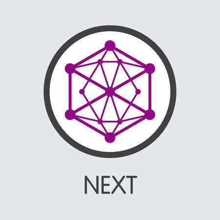 NET - Next. The Logo of Crypto Currency or Market Emblem. Ilustração