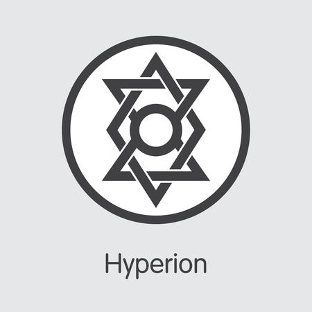 HYN - Hyperion. The Trade Logo of Coin or Market Emblem.