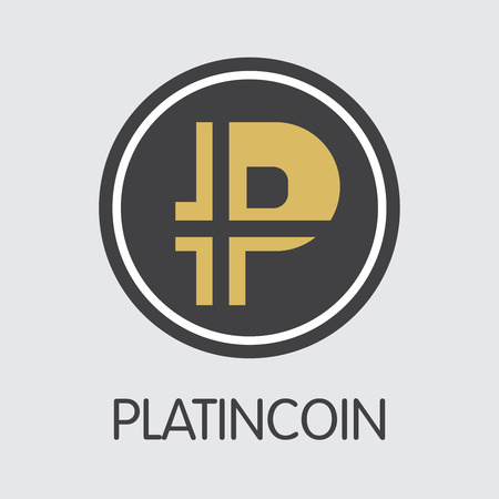 PLC - Platincoin. The Icon of Coin or Market Emblem.