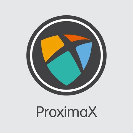 XPX - Proximax. The Market Logo of Money or Market Emblem.