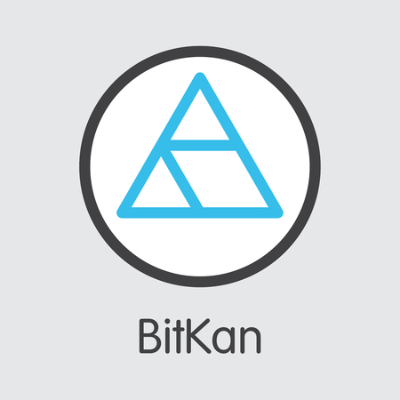 KAN - Bitkan. The Icon of Crypto Currency or Market Emblem. Ilustração