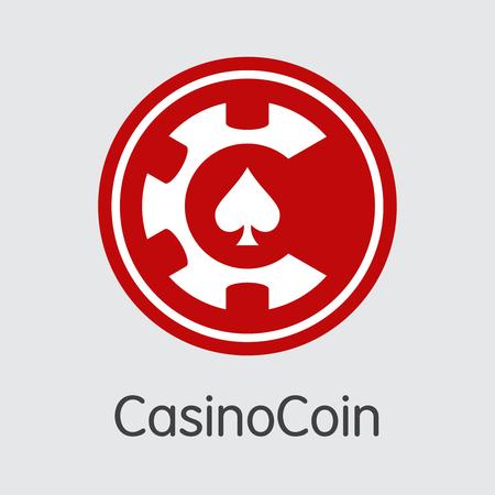 CSC - Casinocoin. The Trade Logo of Money or Market Emblem.