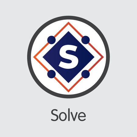 SOLVE - Solve. The Icon of Coin or Market Emblem.