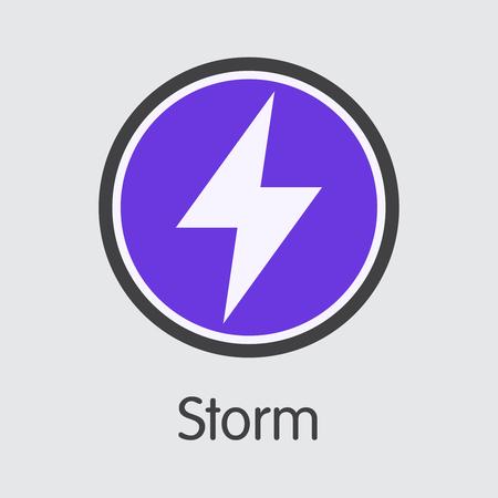 STORM - Storm. The Market Logo of Money or Market Emblem.