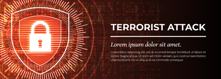Terrorist Attack. The Red Modern Background. Vector.
