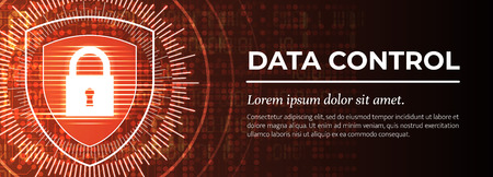 Data Control. The Red Modern Background. Vector.