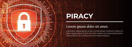 Piracy. The Red Modern Digital Background. Vector.