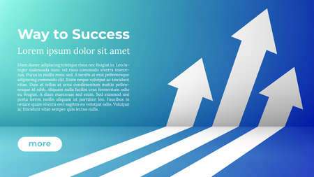 Business Arrow Target Direction Concept to Success. Way to Success - Web Template. Applicable for Promotion , Cover Poster, Infographic, Landing Page, UI, UX, Persentation, Baner, Social Media Poster. 向量圖像