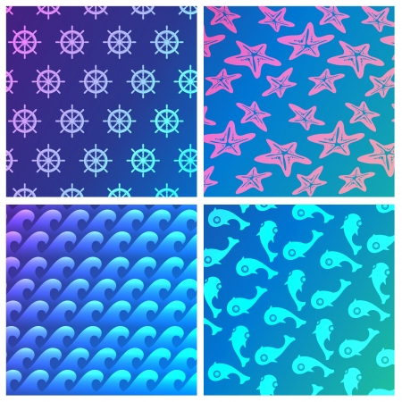 sea pattern Vector
