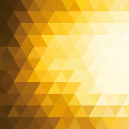 yellow background: abstract background consisting of triangles Illustration