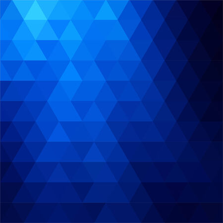 blue backgrounds: abstract background consisting of triangles Illustration