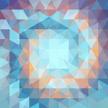 sea sky: abstract background consisting of triangles Illustration