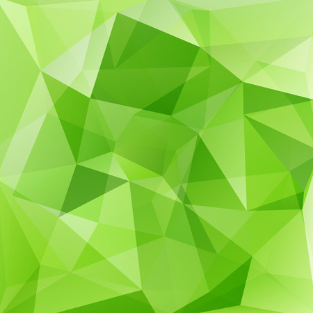 background green: abstract background consisting of triangles Illustration