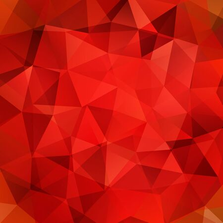 red color: abstract background consisting of triangles Illustration