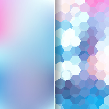 abstact background consisting of hexagons Vector