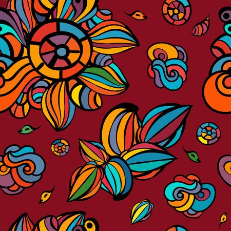 seamless colorful floral background,  wallpaper, pattern, web page background,surface textures Vector