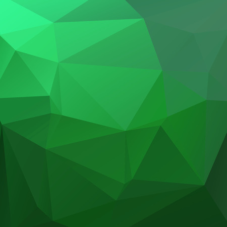 green banner: abstract background consisting of triangles Illustration