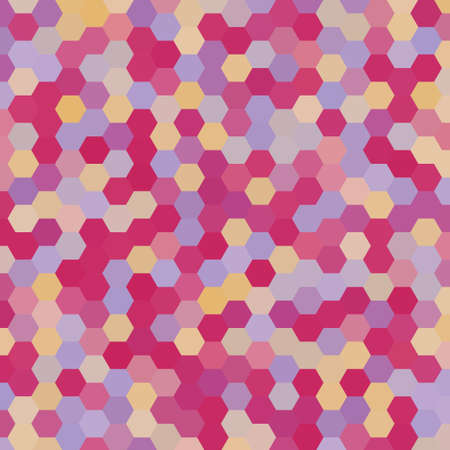 consisting: abstract background consisting of hexagons Illustration