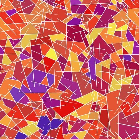 seamless pattern of colored geometric shapes, vector Vector