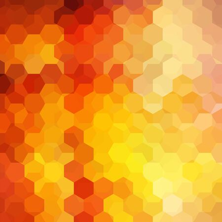 imposition: abstract background consisting of hexagons Illustration