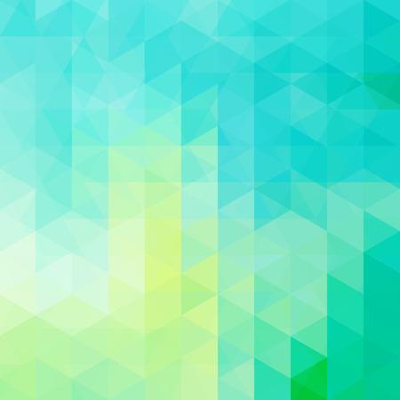 de zomer: abstracte achtergrond bestaande uit driehoeken