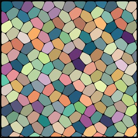 cobble: abstract background consisting of geometrical shapes