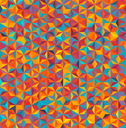 abstract background consisting of small  triangles Vector