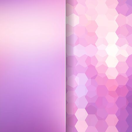 pink background: abstact background consisting of hexagons