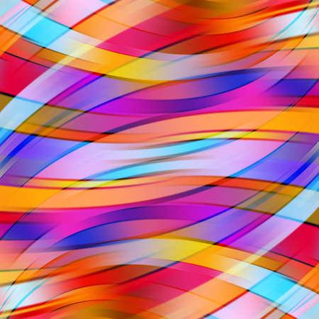 원활한: 다채로운 부드러운 빛 라인 배경 일러스트