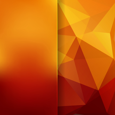 orange yellow: abstract background consisting of triangles Illustration