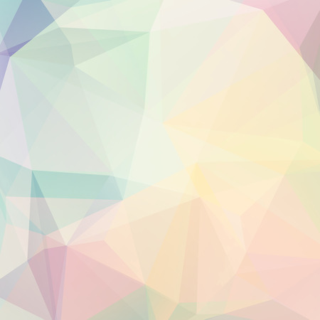 pastel colour: abstract background consisting of triangles Illustration