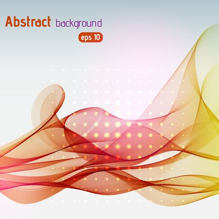 abstract waves: abstract colorful waves background Illustration