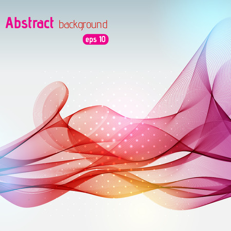 abstract background consisting of colorful line Illustration