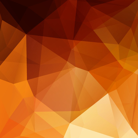 orange color: abstract background consisting of triangles Illustration
