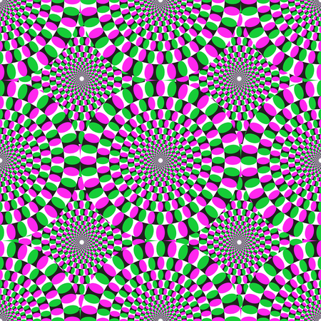 optical illusion: Optical illusion background pattern Illustration