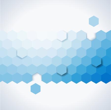 육각형으로 구성된 간단한 화려한 배경 일러스트