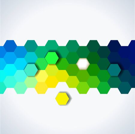 simple background: simple colorful background consisting of hexagons