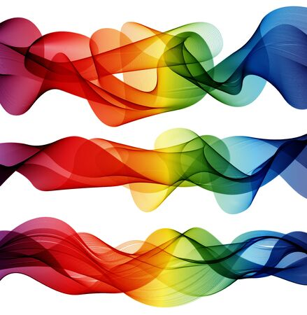 colorful abstract elements with lines, vector Vector
