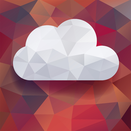 atmospheric: white cloud on colorful  background Illustration