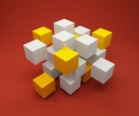 Abstract background consisting of  cubes Illustration