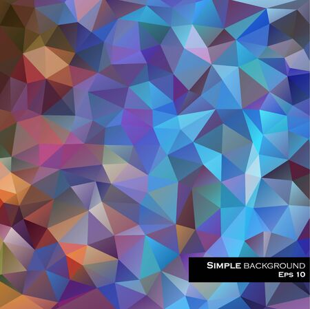 bleached: abstract background consisting of triangles Illustration