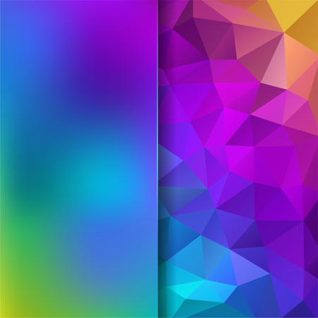 rainbow background: abstract background consisting of triangles and matt glass